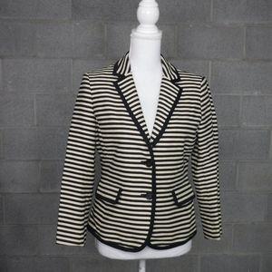 Ann Taylor Nautical Stripe Blazer Size 8 Career